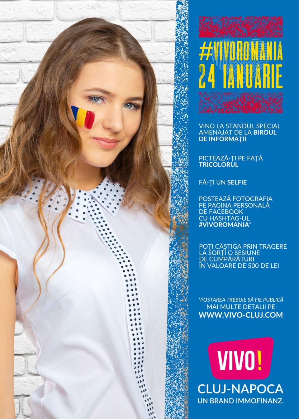 Sărbătoreşte Mica Unire cu VIVO! Cluj-Napoca!