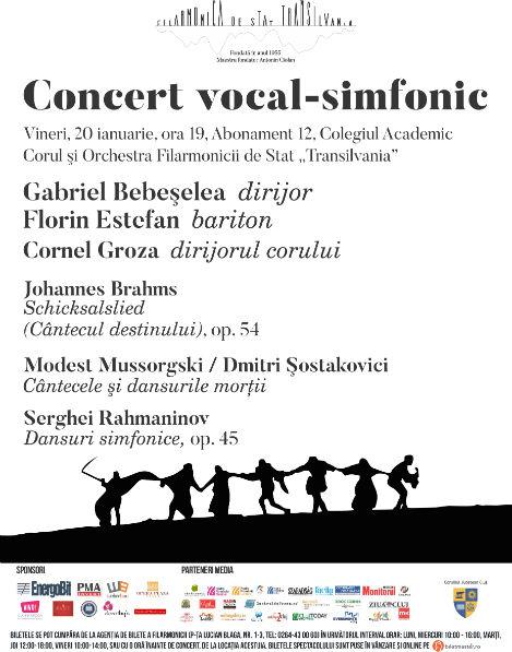"""Primul concert al Filarmonicii de Stat """"Transilvania"""" din 2017, sub bagheta dirijorului Gabriel Bebeşelea"""