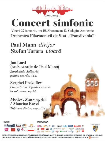 Concert simfonic sub bagheta dirijorului Paul Mann – Violonistul Ştefan Tarara revine pe scena Colegiului Academic