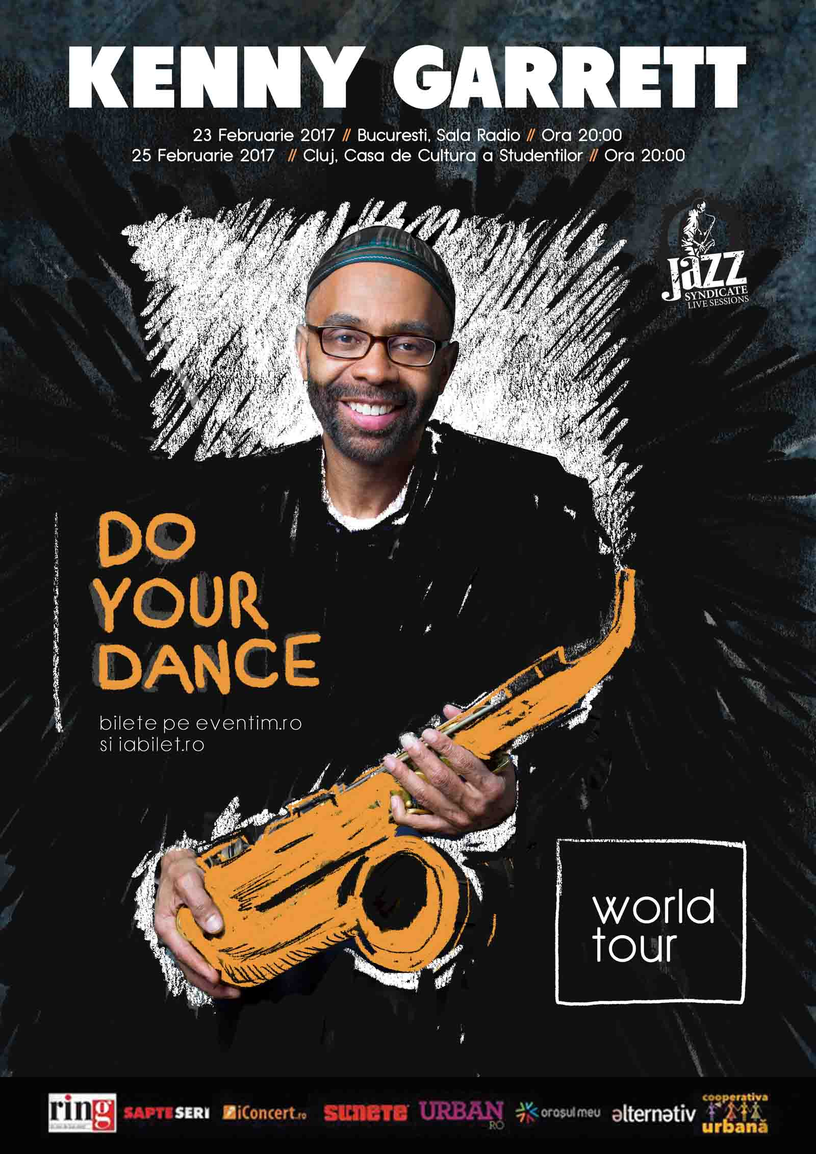 Legendarul saxofonist american Kenny Garrett revine la Cluj-Napoca, intr-un concert de vis la Casa de Cultura a Studentilor