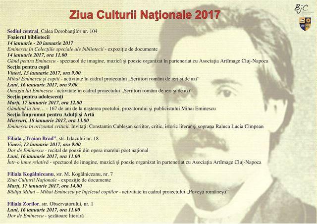 """Ziua Culturii Naționale la Biblioteca Județeană """"Octavian Goga"""" Cluj"""