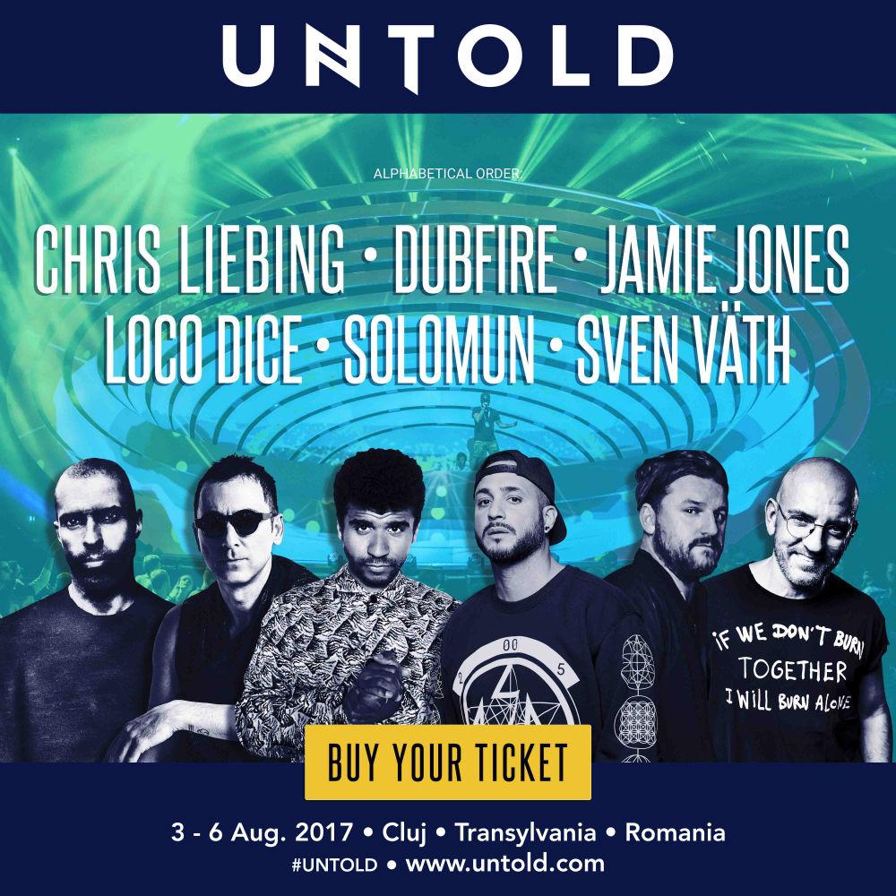 Noi artisti anuntati la UNTOLD 2017! Pe scena Galaxy vor urca cei mai cunoscuti artisti techno din lume: Solomun, Sven Vath, Chris Liebing, Dubfire, Jamie Jones și Loco Dice