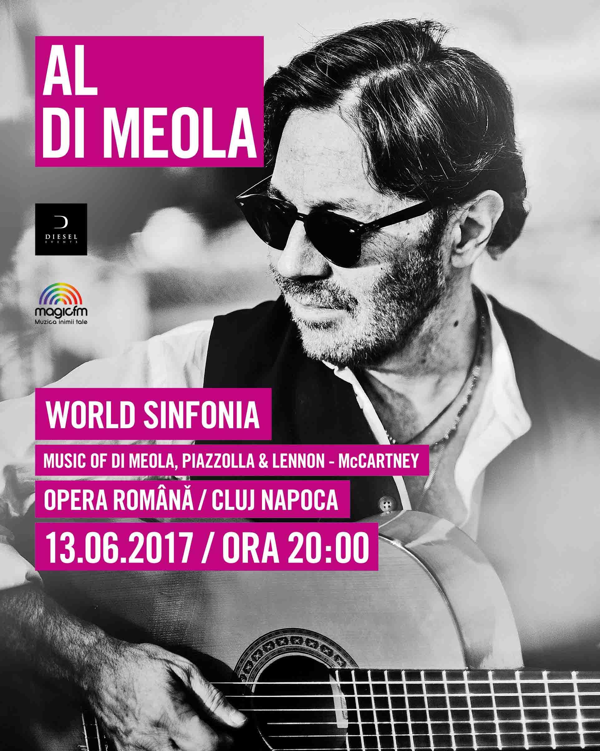 "Al Di Meola revine la Cluj-Napoca cu cel mai bun concert al său ""Music of Di Meola, Piazzolla & Lennon-McCartney"", la Opera Romana"