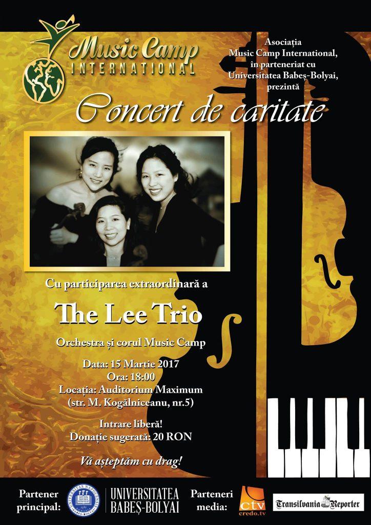 Concert caritabil cu intrare liberă, susținut de The Leo Trio, miercuri, la Auditorium Maximum