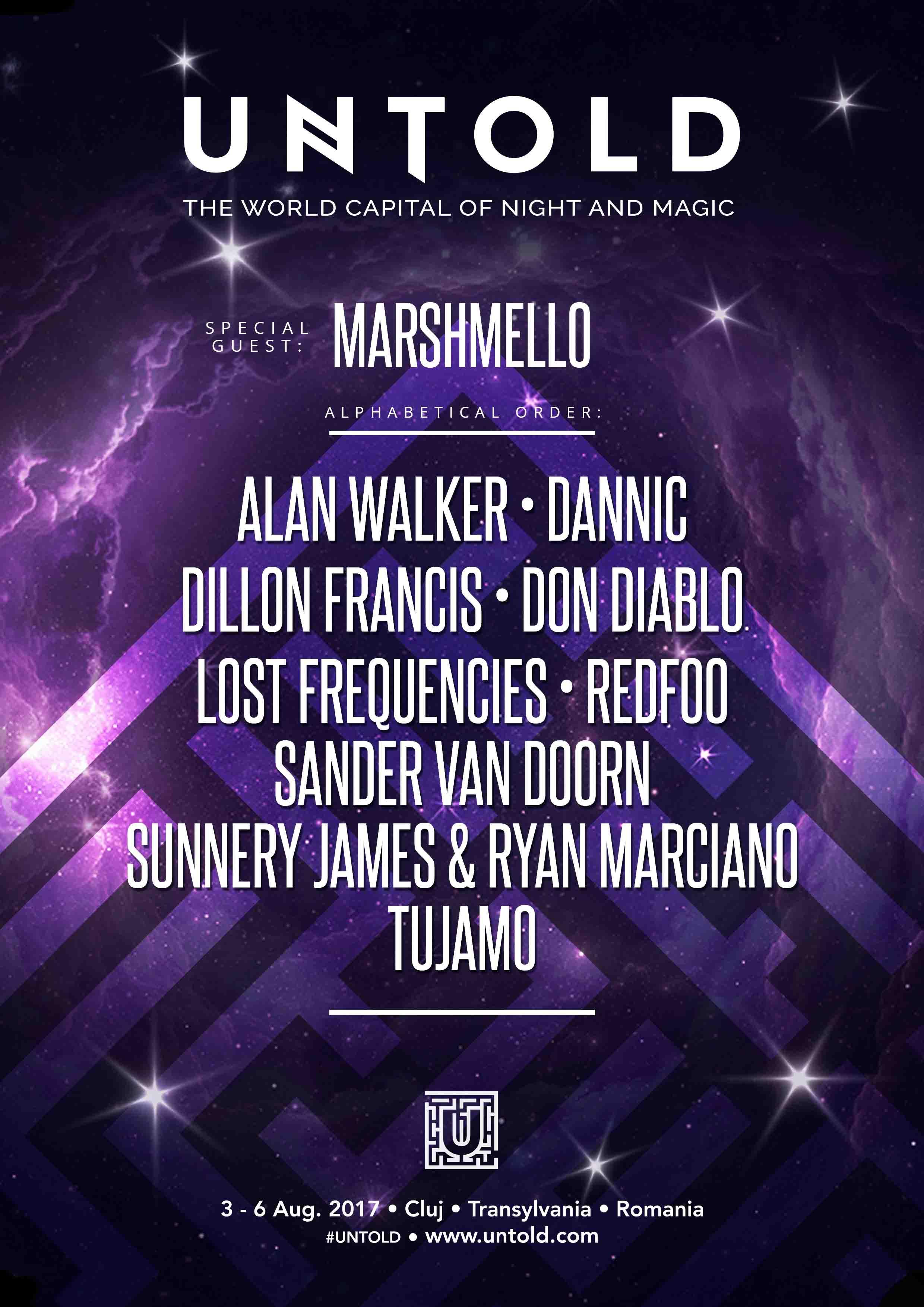 Alti 10 giganti ai muzicii electro-dance vor urca pe UNTOLD ARENA in perioada 3-6 august 2017