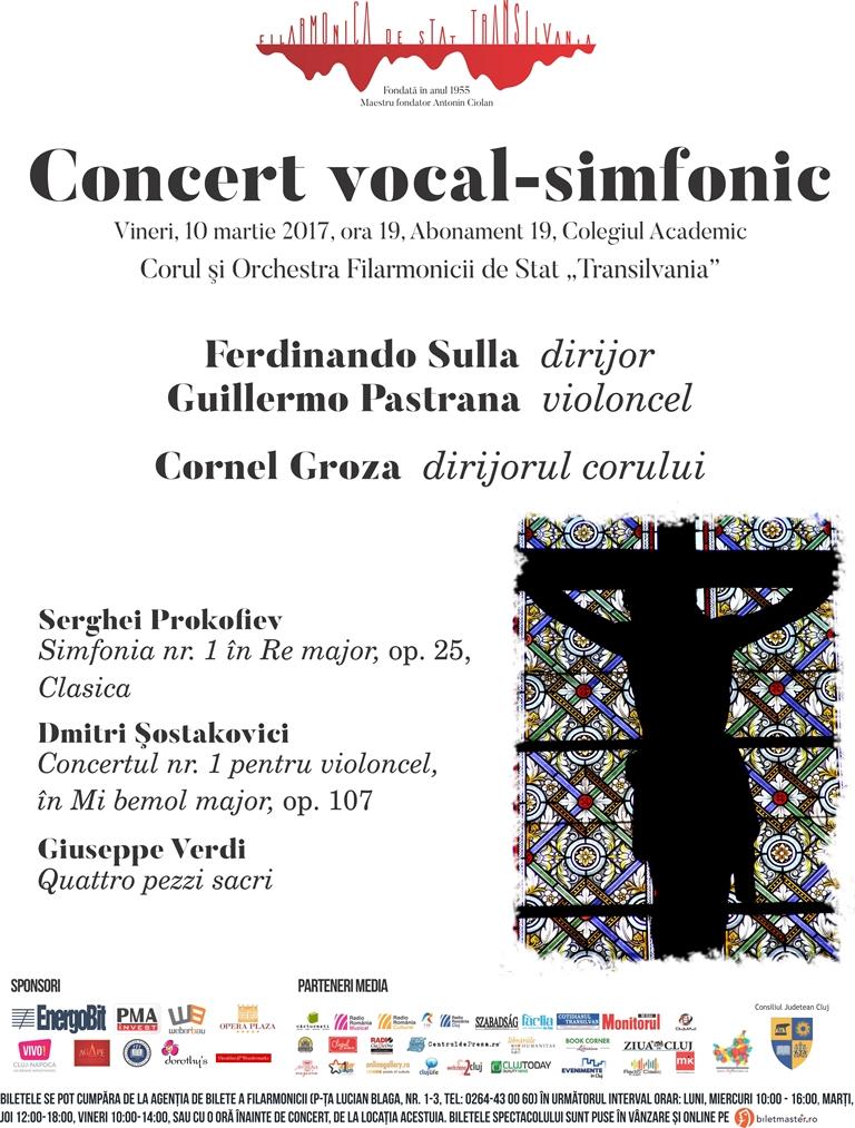 Concert vocal-simfonic sub bagheta dirijorului Ferdinando Sulla