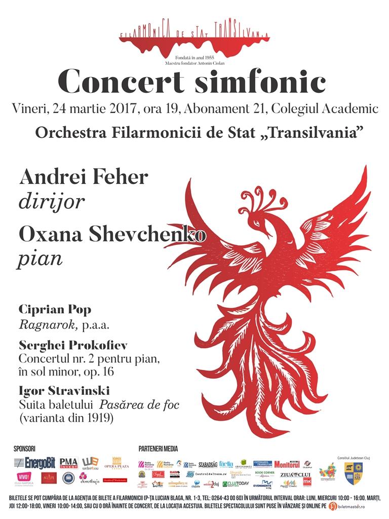 Concert simfonic dirijat de Andrei Feher pe scena Colegiului Academic