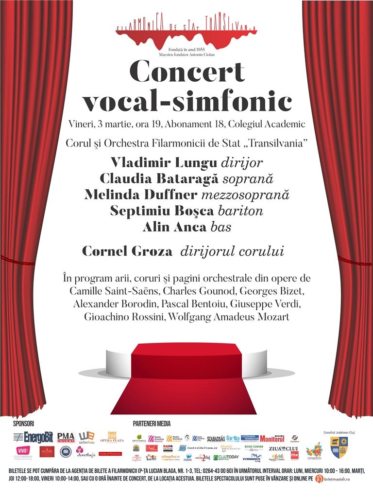 Concert vocal-simfonic sub bagheta dirijorului Vladimir Lungu – Arii, coruri şi pagini orchestrale din opere celebre
