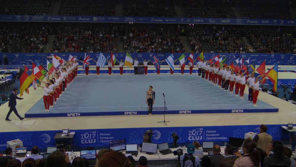 Gală spectaculoasă la deschiderea Campionatelor Europene de Gimnastică de la Cluj-Napoca – FOTO/VIDEO