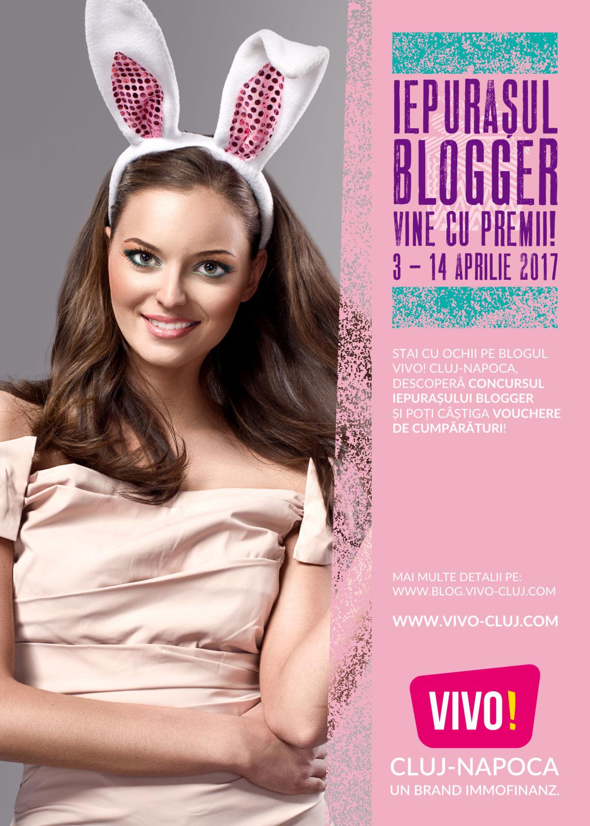 Iepuraşul Blogger vine cu premii la VIVO! Cluj-Napoca (P)