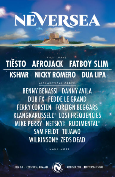 Primii artiști anunțați la Neversea 2017, festivalul de la malul mării! DUA LIPA și Tiesto, printre invitați!