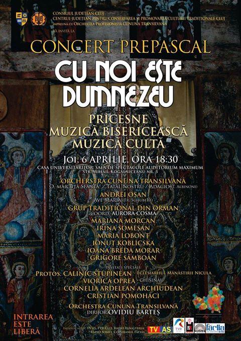 Concert Prepascal de pricesne, muzică bisericească și cultă