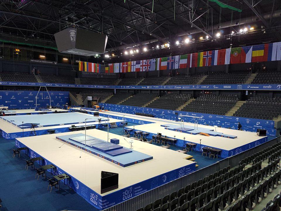 Sala Polivalentă e pregătită pentru Europene de Gimnastică Artistică – Competiția va fi transmisă și online