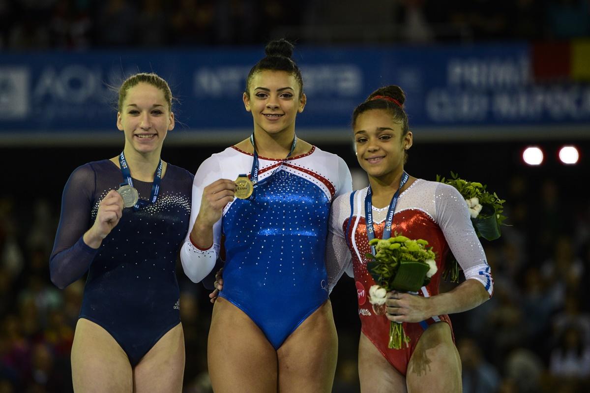 Medaliații la individual compus în cadrul Campionatelor Europene de Gimnastică de la Cluj – FOTO