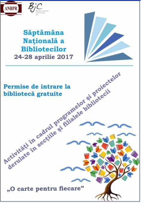 """Săptămâna Naţională a Bibliotecilor, celebrată la Biblioteca Judeţeană """"Octavian Goga"""""""