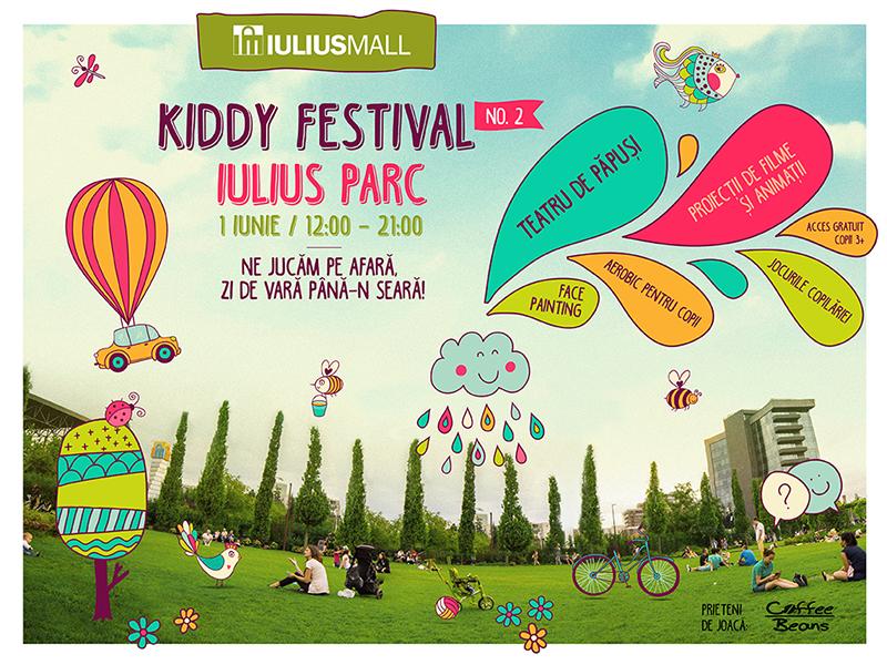 Jocurile copilăriei, teatru de păpuși și proiecții de animații, pe 1 iunie, la Kiddy Festival, în Iulius Parc!