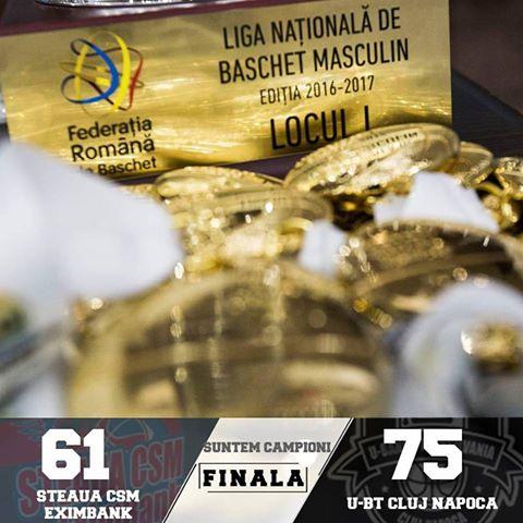După 6 ani de pauză, U-BT Cluj-Napoca din nou campioana României!