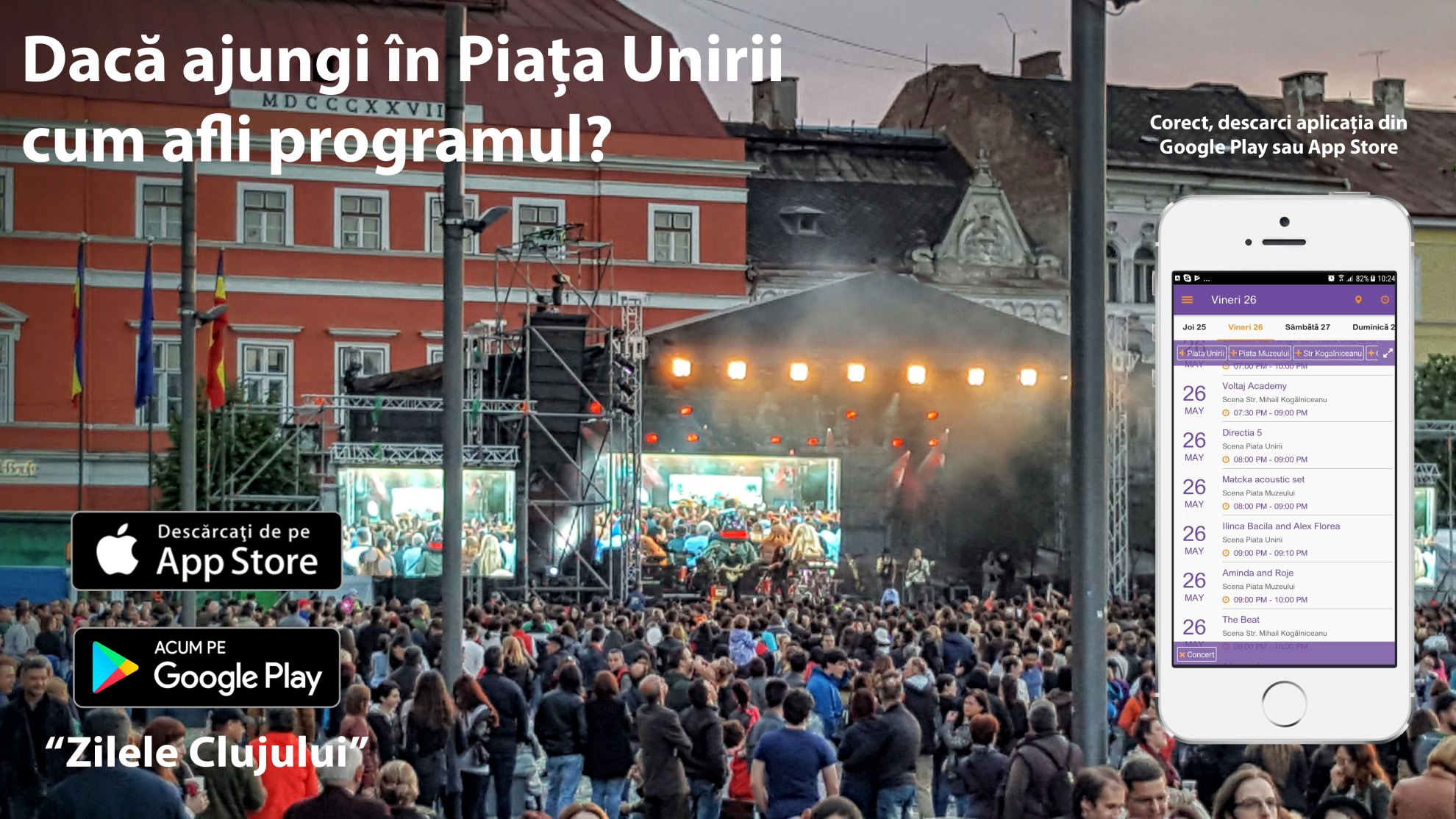 Zilele Clujului are o aplicatie mobila incepand de anul acesta! Descarc-o si tu!