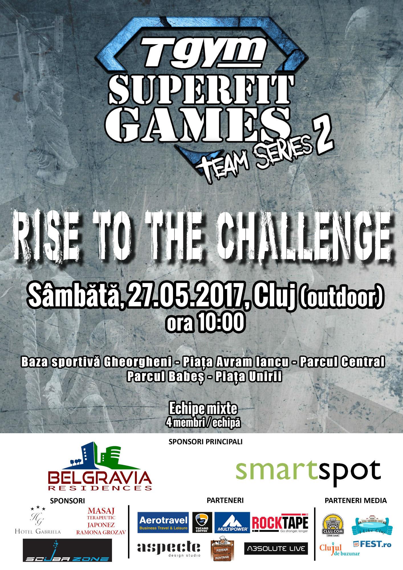 T Gym SuperFit Games Team Series 2: 100 de tineri întâmpină vara în cea mai spectaculoasă competiție sportiva din Transilvania