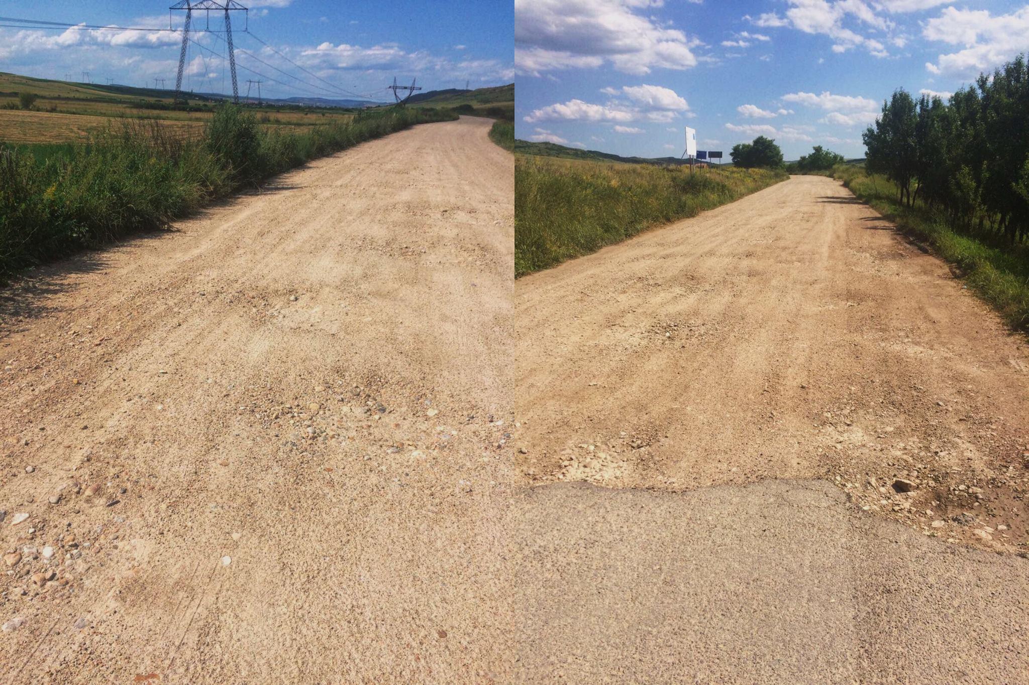 Consiliul Judetean nu si-a respectat promisiunea de a asfalta drumul spre Bontida