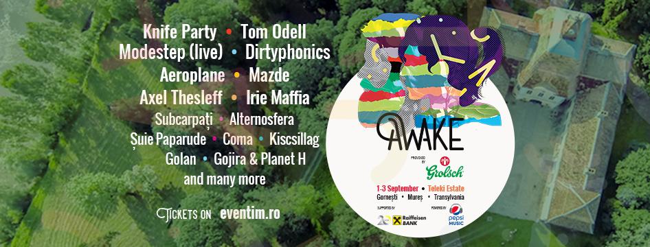 Prima ediţie a festivalului AWAKE, pe domeniul castelului Teleki din satul Gorneşti, Mureş!