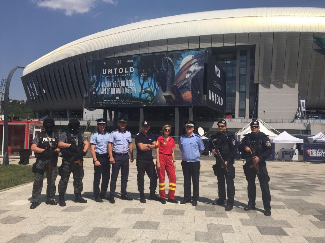 Jos pălăria Poliției Române care a menținut ordinea publică și a avut grijă non-stop de siguranța participanților la UNTOLD Festival 2017