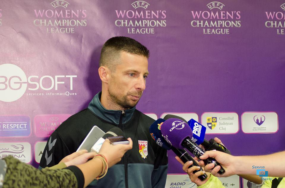 """Marius Suller, antrenor Olimpia Cluj: """"Le mulţumesc fetelor că m-au făcut să privesc cu alţi ochi fotbalul feminin"""""""