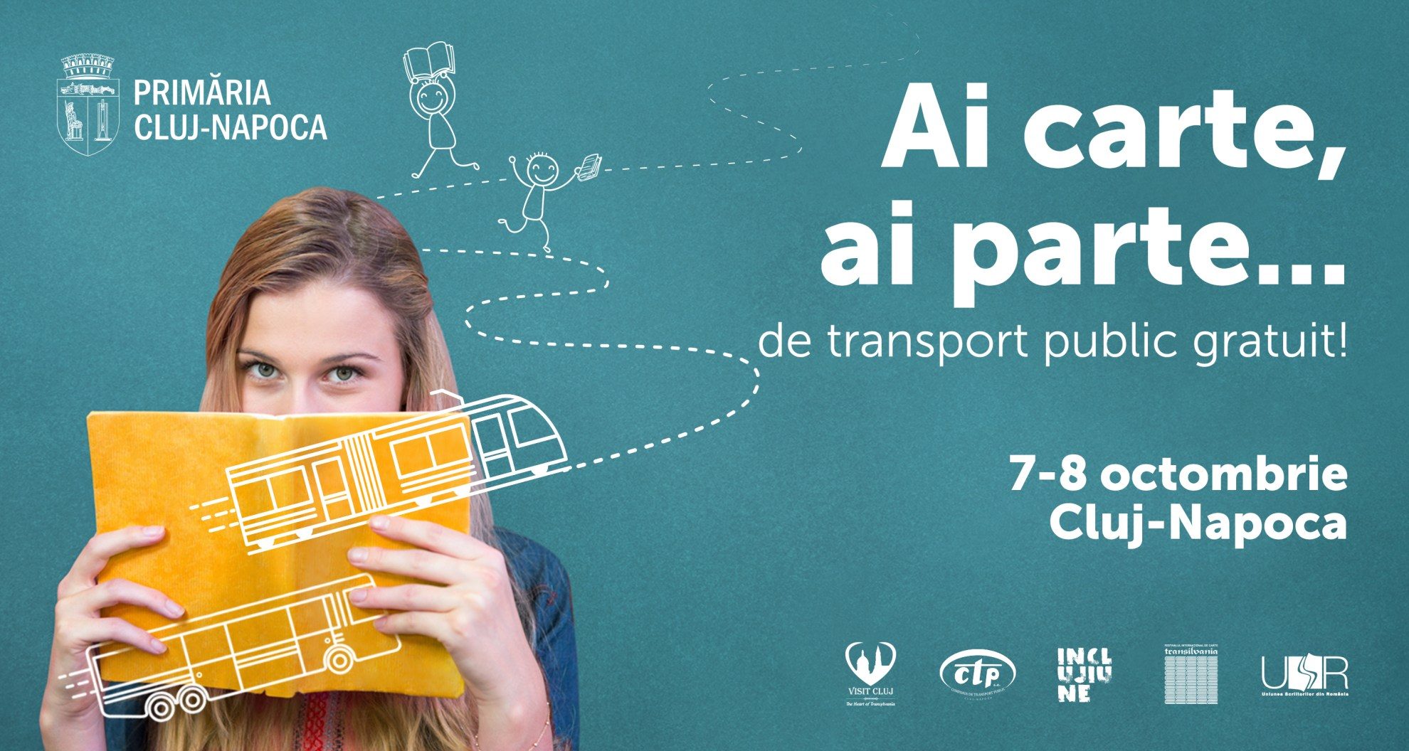 """In acest weekend, la Cluj, """"Ai carte, ai parte… de transport public gratuit""""!"""
