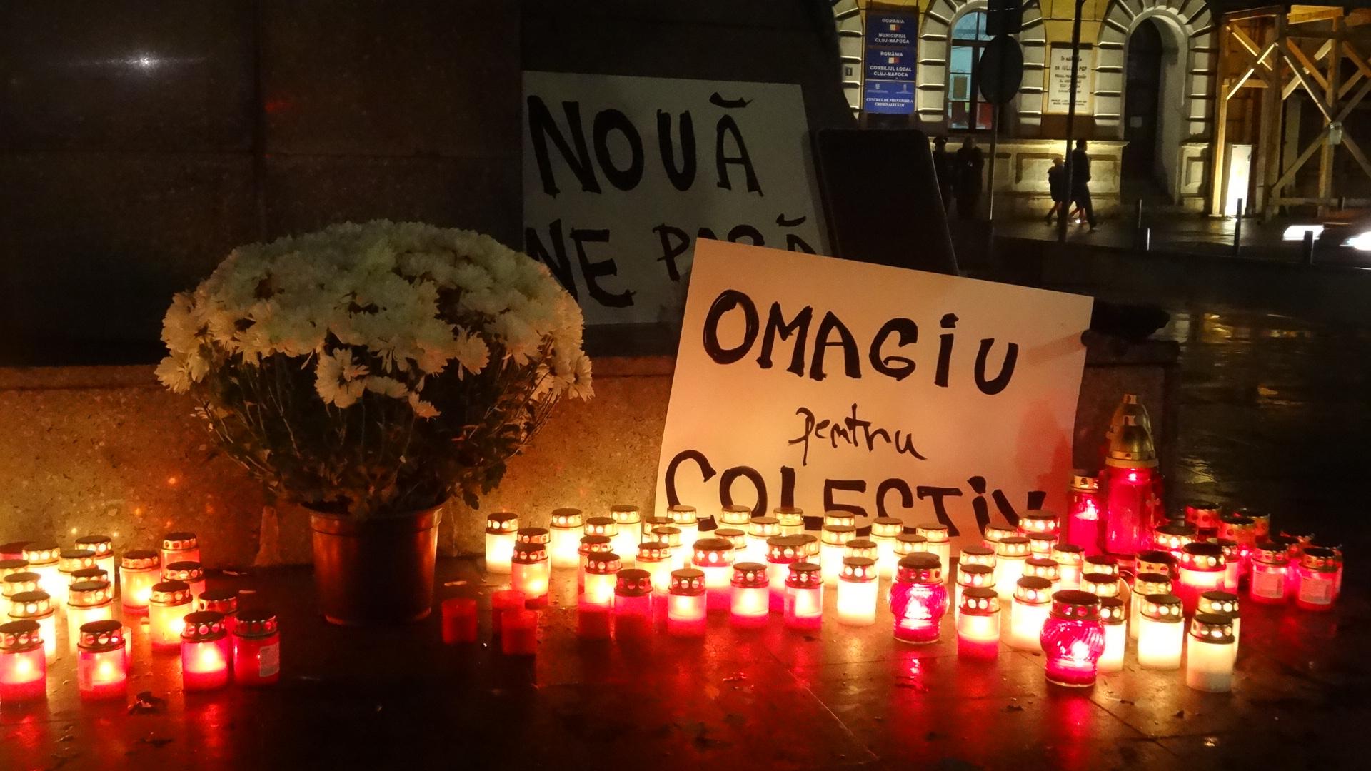 Omagiu victimelor din Colectiv la Cluj, după 2 ani de la tragedia care a îndoliat o ţară întreagă
