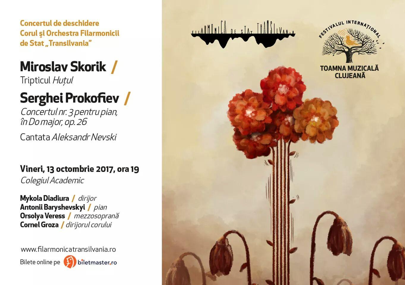 Concert de deschidere a festivalului Toamna Muzicală Clujeană – ediția a 51-a