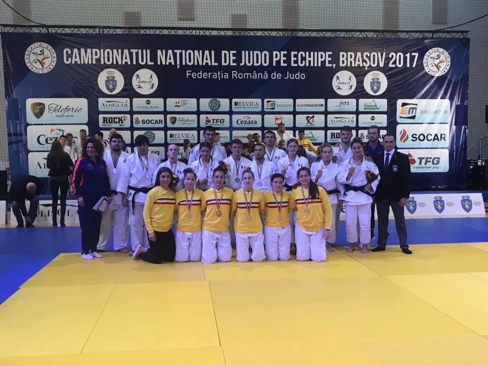 Trei medalii obţinute de judoka de la U-CSM Cluj la Campionatul Naţional de judo pe echipe!