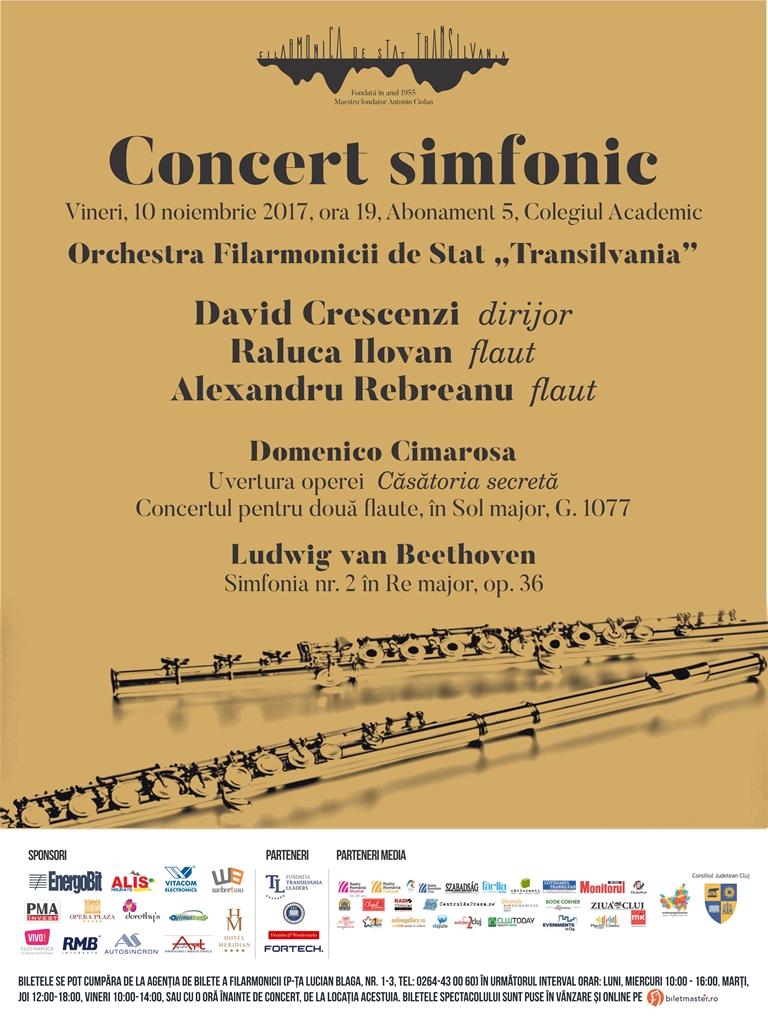 Concertul simfonic dirijat de David Crescenzi, la Auditorium Maximum