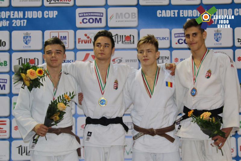 Judoka clujean Adrian Şalcă, pe podium la Cupa Europeană cadeţi U18 în Ungaria