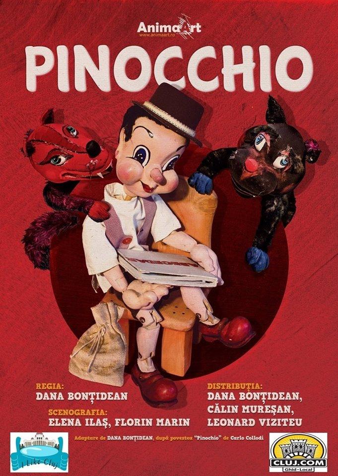 Spectacolul Pinocchio, duminică, la Cinema Mărăşti