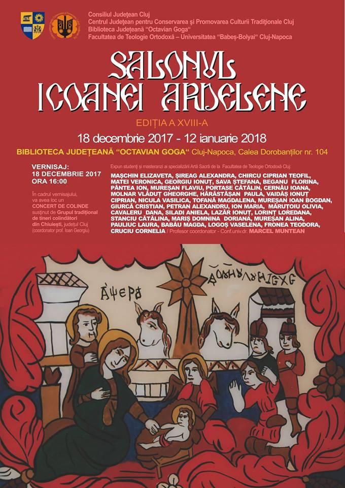 """Salonul Icoanei Ardelene, la Biblioteca Judeţeana """"Octavian Goga"""" din Cluj"""