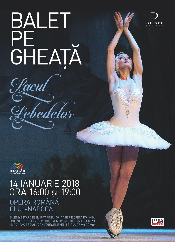 Scena Operei Naționale Române acoperită cu tone de gheață pentru spectacolul oferit de Ansamblul Baletului pe Gheață din Sankt Petersburg care va avea loc duminică
