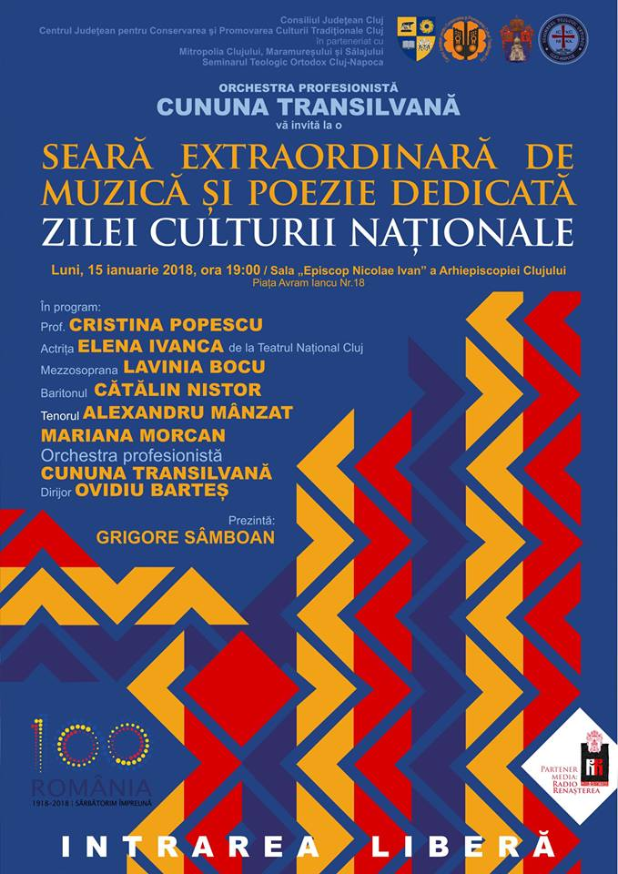 Ziua Culturii Naționale, sărbătorită luni la Cluj cu un spectacol folcloric