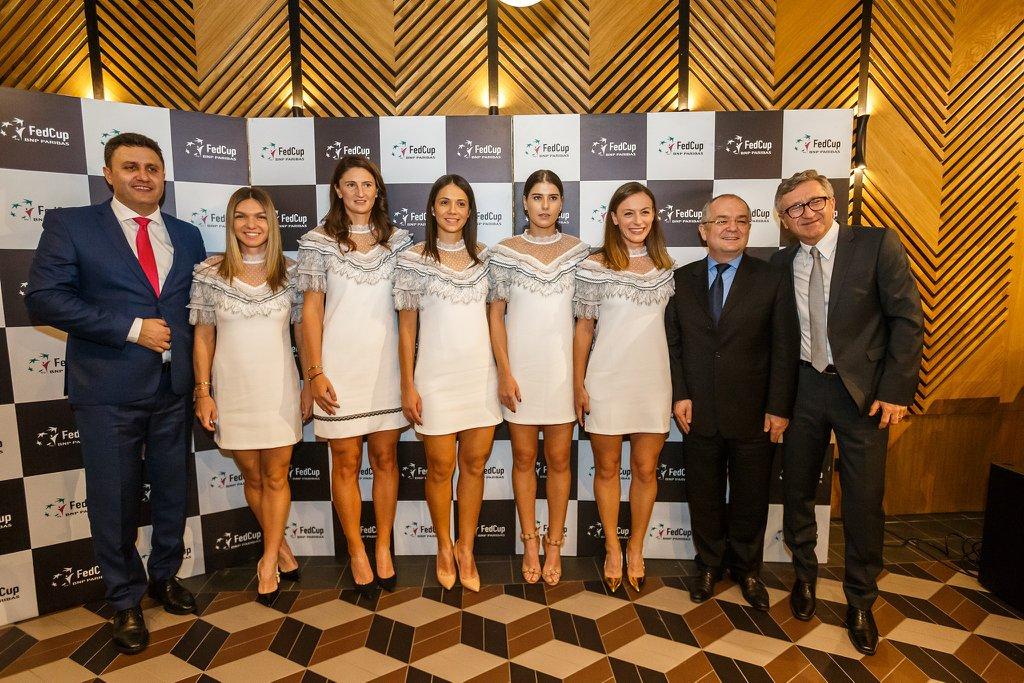 Jucătoarele de Fed Cup a României și Canadei, la dineul oficial – FOTO
