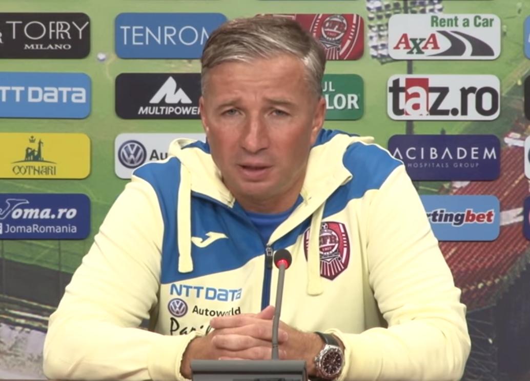 """Dan Petrescu o vede în continuare pe CFR Cluj favorita principală la titlu în Liga 1 – """"Numai un miracol ar face să piardă titlul"""""""