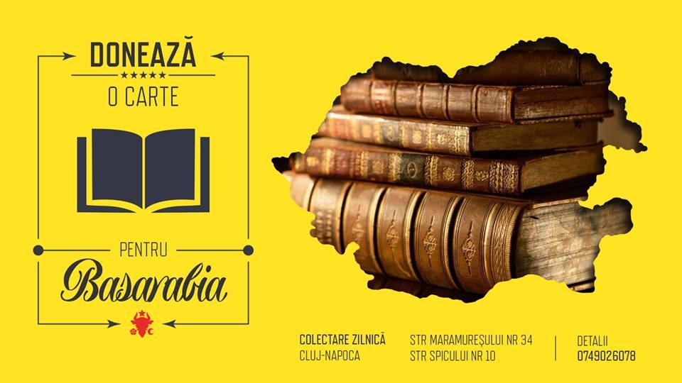 Donează o carte pentru Basarabia, o iniţiativă care sprijină unirea României cu Republica Moldova