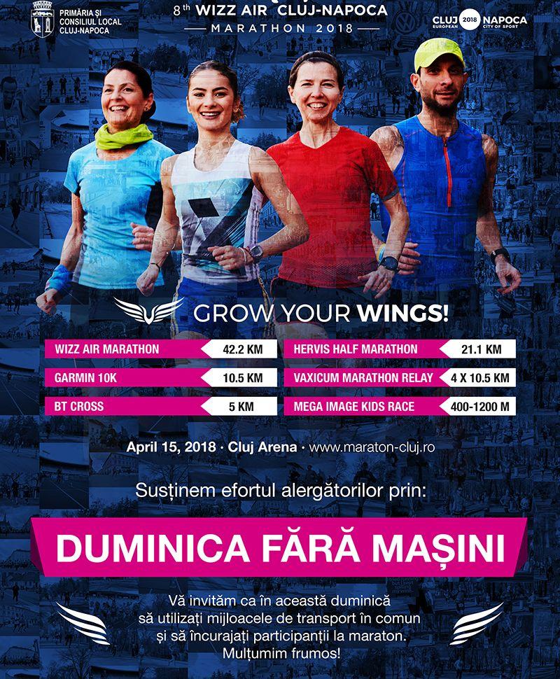 """Maratonul Internaţional Cluj-Napoca închide circulaţia! """"Duminica fără maşini"""""""
