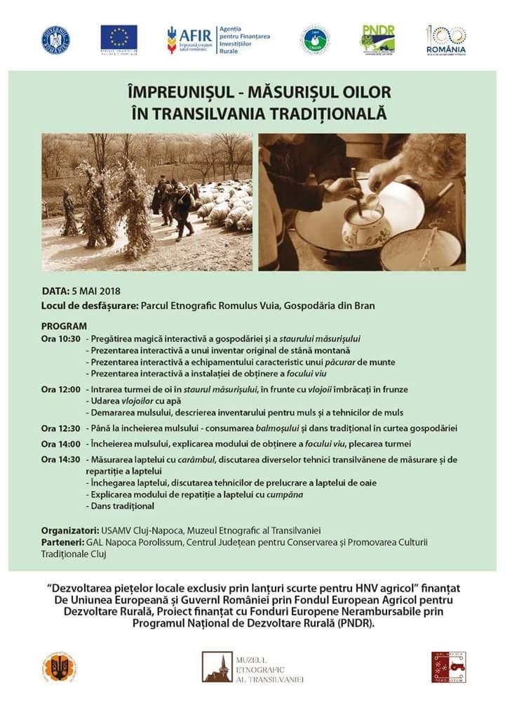 Împreunişul – măsurişul oilor în Transilvania tradiţională