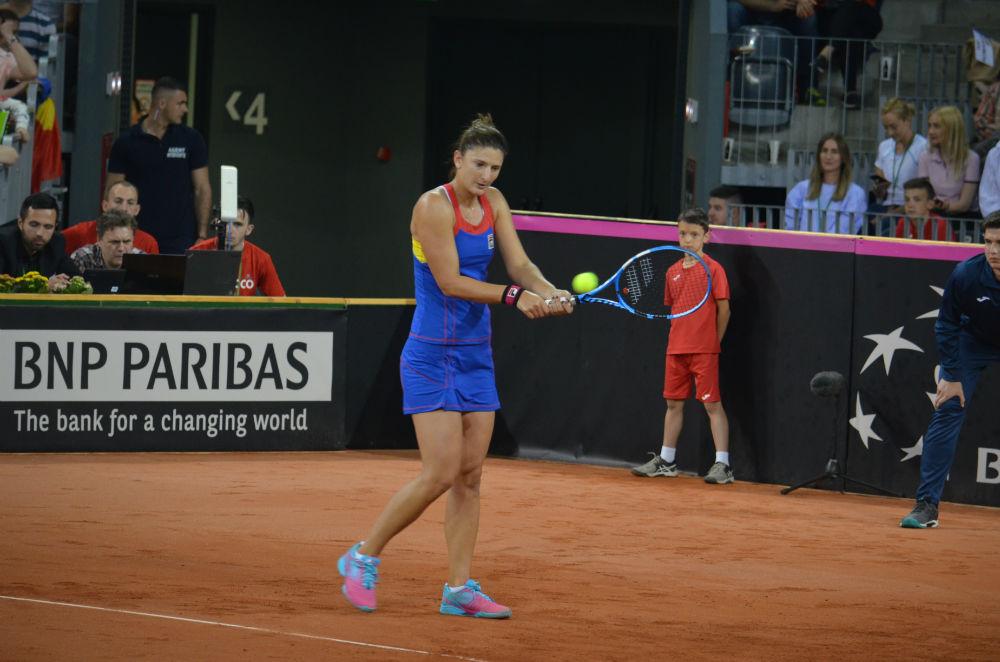 Irina Begu, a doua victorie pentru România în meciul de Fed Cup cu Elveţia!