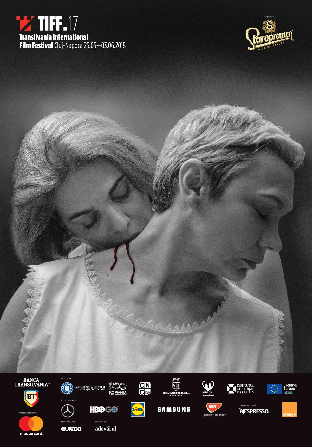 Afişul oficial TIFF 2018, un omagiu adus filmului iconic Persona, cu actriţele Oana Pellea şi Maia Morgenstern