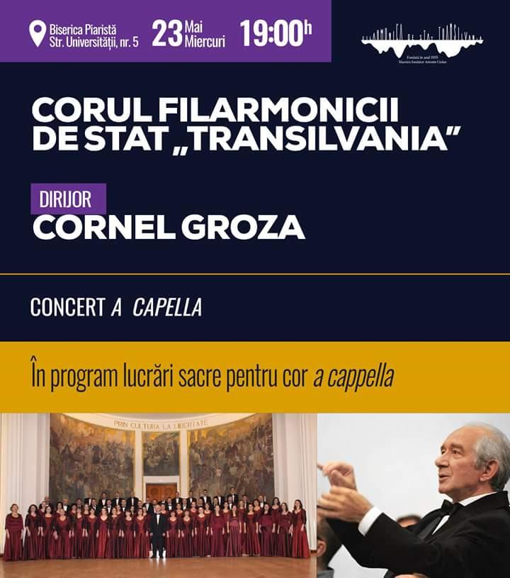 """Concert coral a cappella susținut de Corul Filarmonicii de Stat """"Transilvania"""""""