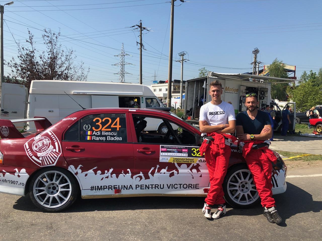 CFR Cluj, susținută inedit la Transilvania Rally de un echipaj!