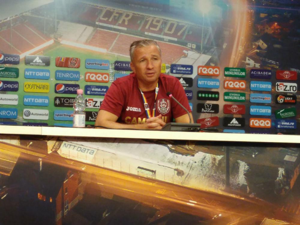 """Dan Petrescu, după victoria cu Viitorul: """"E prima dată, de când sunt la CFR, când am fost condus la pauză!"""""""