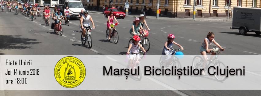 Marşul Bicicliştilor Clujeni ajunge la ediţia a 129-a!