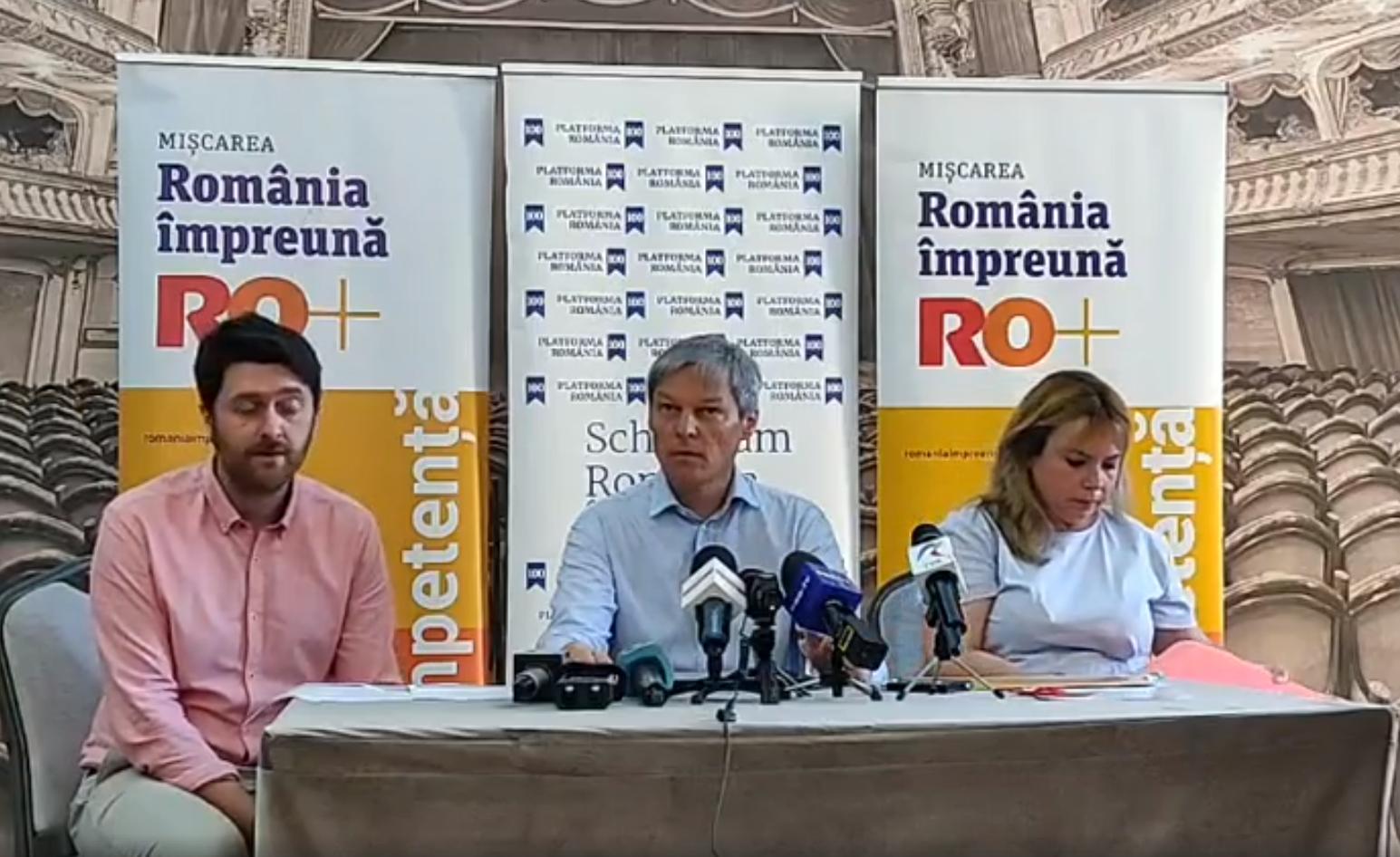 Dacian Cioloş cere de la Cluj alegeri anticipate şi demisia Guvernului Dăncilă