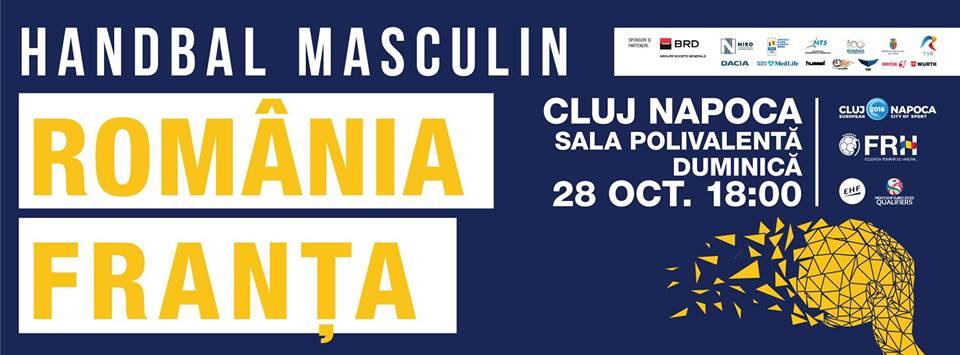 Naționala de handbal masculin a României va înfrunta la Cluj campioana mondială, Franța, în preliminariile Campionatului European!